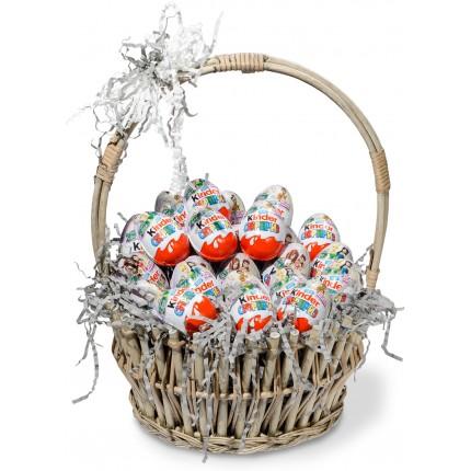 """Подарочная корзина """"Шоколадные Киндеры"""""""