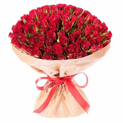 Букет 51 роза Эль Торро 40см