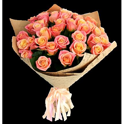 Букет 25 роз Мисс Пигги
