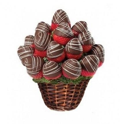 Фруктовая корзина Клубника в шоколаде