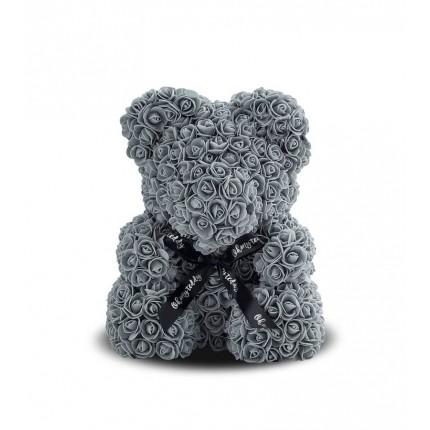 Медведь из серых роз 25 см