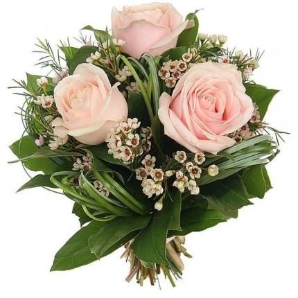 Букет из роз и берграсса