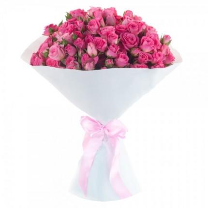 Букет из 15 кустовых розовых роз