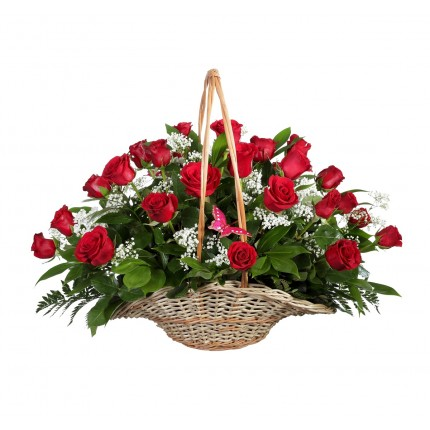 Подарочная корзина с цветами Дивный вечер